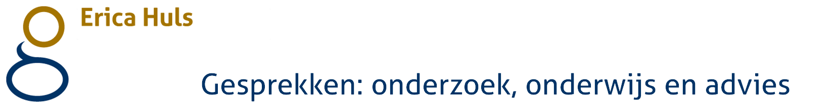 Gesprekken: onderzoek, onderwijs en advies logo